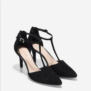 Cole Haan Prieta T-strap suede heels sz 8